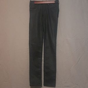 2/$20 Garage coated black skinny jean